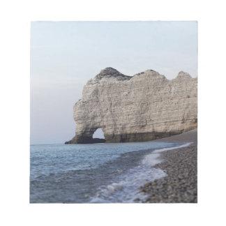 Bloc-note La côte aux falaises d'Aval d'Etretat
