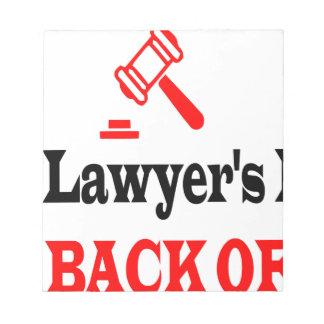 Bloc-note La maman de l'avocat