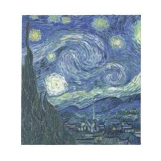 Bloc-note La Nuit Etoilée de Van Gogh (The Starry Night)