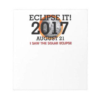 Bloc-note La PIÈCE EN T I a vu l'éclipse solaire
