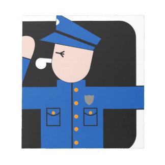 Bloc-note La police équipe