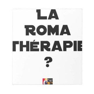 Bloc-note LA ROMA THÉRAPIE ? - Jeux de mots - Francois Ville