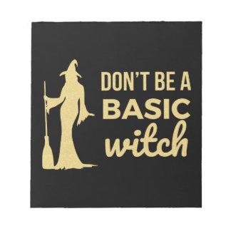 Bloc-note La sorcière de base