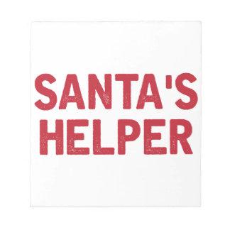 Bloc-note L'aide de Père Noël