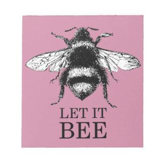 Bloc-note Laissé le la nature vintage d'abeille gaffent