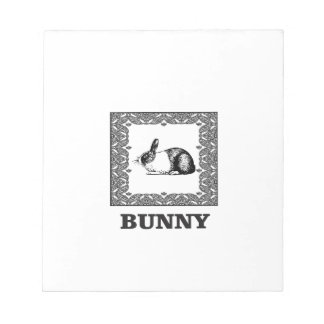 Bloc-note lapin noir et blanc