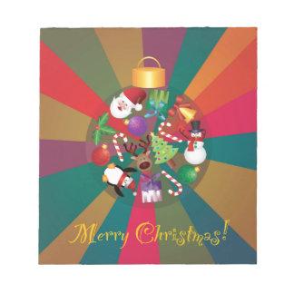 Bloc-note L'arbre de Noël ornemente le collage coloré
