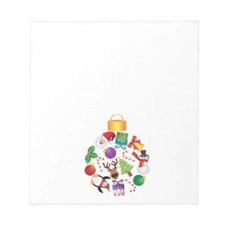 Bloc-note L'arbre de Noël ornemente l'illustration de