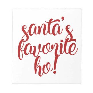 Bloc-note Le favori de Père Noël Ho !