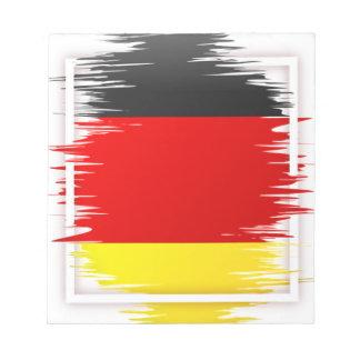 Bloc-note Le football allemand de drapeau