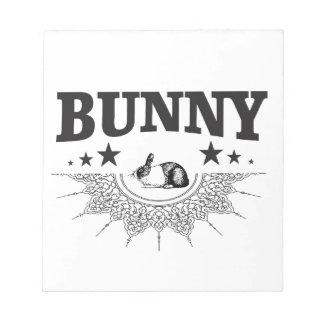Bloc-note le noir tient le premier rôle le lapin