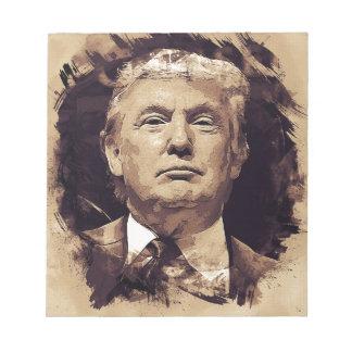 Bloc-note Le Président Donald Trump