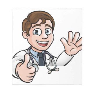 Bloc-note Le signe de docteur personnage de dessin animé