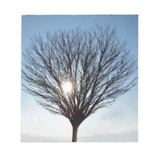 Bloc-note le soleil d'hiver