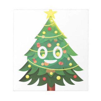 Bloc-note Le vrai arbre de Noël d'Emoji
