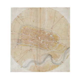 Bloc-note Leonardo da Vinci - plan de la peinture d'Imola