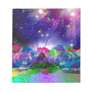 Bloc-note Les couleurs et les étoiles allument la nuit