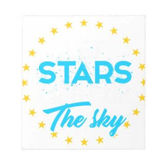 Bloc-note Les étoiles laissées allument le ciel