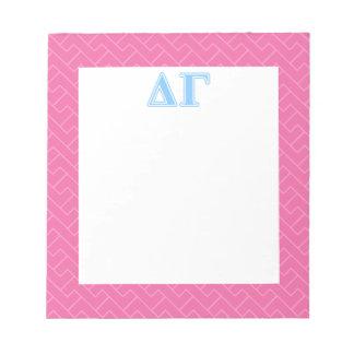 Bloc-note Lettres bleues gamma de delta