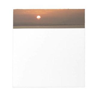 Bloc-note Lever de soleil au-dessus de paysage marin d'Aruba