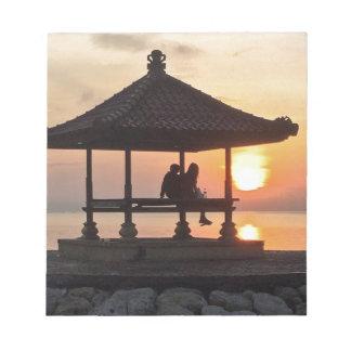 Bloc-note Lever de soleil dans Bali