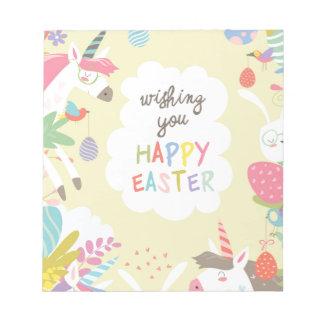 Bloc-note licorne de Pâques