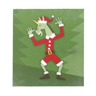 Bloc-note Licorne de Père Noël dans la Chambre