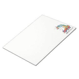 Bloc-note Licorne mignonne d'arc-en-ciel d'aquarelle