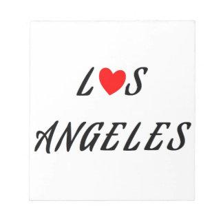 Bloc-note Los Angeles coeur rouge