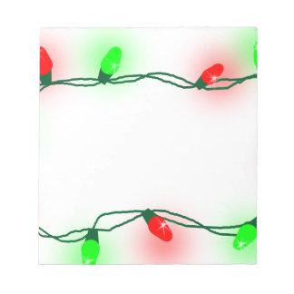 Bloc-note Lumières de Noël