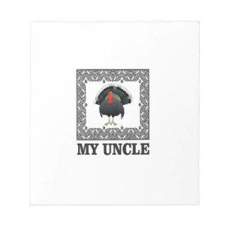 Bloc-note ma boîte à dinde d'oncle