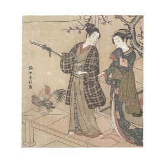 Bloc-note Madame vintage japonaise Woman Maiko de geisha de