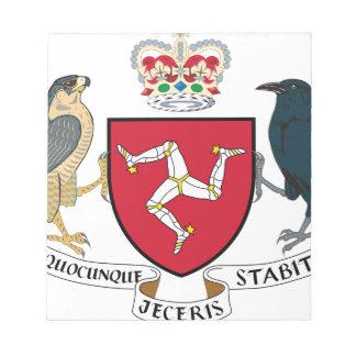 Bloc-note Manteau d'île de Man des bras - emblème mannois