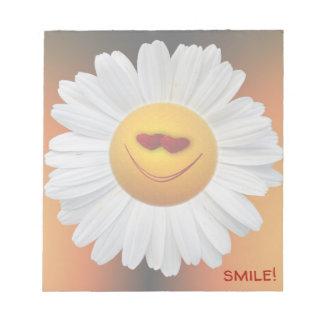 Bloc-note marguerite de sourire - bloc - notes