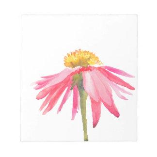 Bloc-note Marguerite rose