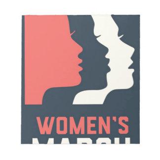Bloc-note Mars des femmes