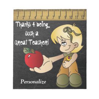 Bloc-note Merci pour être un si grand professeur