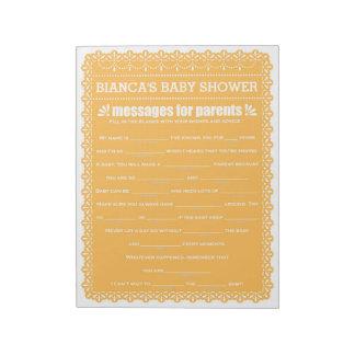 Bloc-note Message pour la douche orange de Papel Picado de