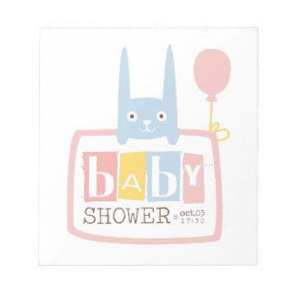 Bloc-note Modèle de conception d'invitation de baby shower