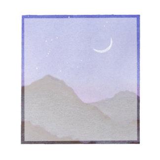 Bloc-note Montagnes d'Orion et de croissant de lune