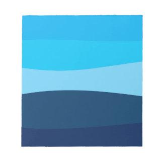 Bloc-note Motif abstrait - bleu
