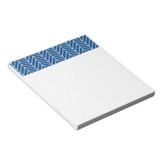 Bloc-note motif bleu de chevron