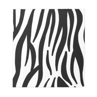 Bloc-note motif de rayures de zèbre