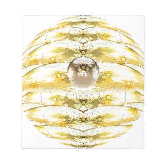 Bloc-note Motif de ruche d'abeille de boule de disco