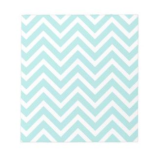 Bloc-note Motif de zigzag bleu-clair