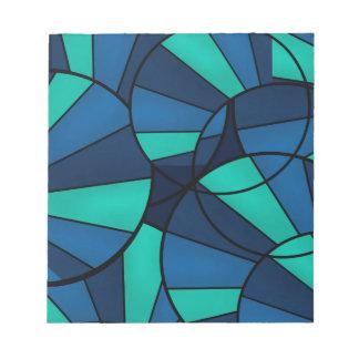 Bloc-note Motif géométrique abstrait