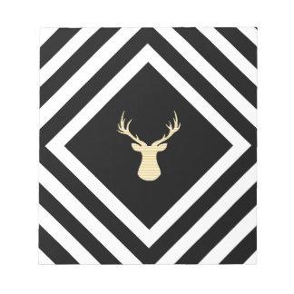 Bloc-note Motif géométrique abstrait - cerf commun beige -