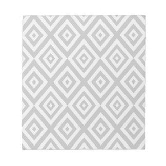 Bloc-note Motif géométrique abstrait - gris