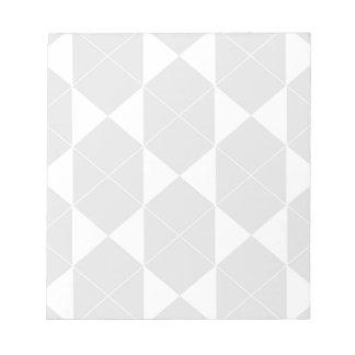 Bloc-note Motif géométrique abstrait - gris et blanc