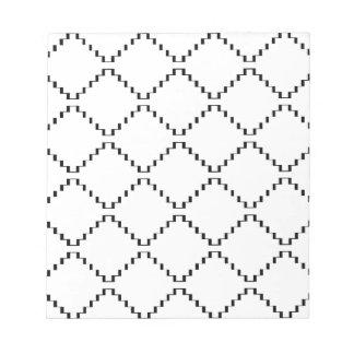 Bloc-note Motif géométrique abstrait - noir et blanc.